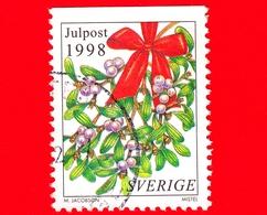 SVEZIA - Usato - 1998 - Natale - Fiori E Decorazioni Natalizie - Vischio - Viscum - Christmas Decoration - Julpost (4k) - Svezia