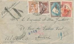 LATI 1941 - Air Mail Argentine - Belgique - La Cumbra 7 JUL 41 Censure Cologne. RR - 1900-44 Victor Emmanuel III