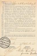 Enregistrement Carnet D'épargne CGER - Laroche 24.9.18 & Verso Griffe -  Très Rare - Guerre 14-18