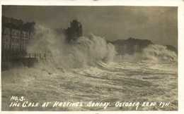 Carte Photo The Cale At Hastings Sunday October 22 1911 RV Beau Timbre Cachet - Hastings