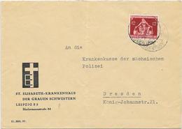 DR Brief EF MI.619 Leipzig, ST.Elisabeth Krankenhaus Der Grauen Schwestern - Covers & Documents