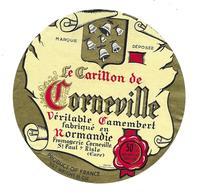 ETIQUETTE De FROMAGE..CAMEMBERT Fabriqué NORMANDIE..Le Carillon De Corneville..Fromagerie CORNEVILLE à St PAUL S/ RISLE - Cheese