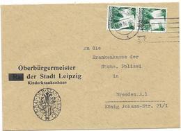 DR Brief Mef Mi.632 Leipzig 15.9.36 , Oberbürgermeister (RAT Aptiert) Der Stadt Leipzig Kinderkrankenhaus - Covers & Documents