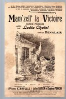 "Partition ""petit Format""  MAM'ZELL' LA VICTOIRE (ill Léandre) 1917    (MPA PF 239) - Jazz"