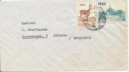 Peru Air Mail Cover Sent To Denmark 1957 ??? - Peru