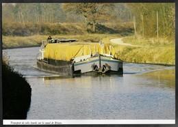1982  --  PENICHE TRANSPORT DE COLIS LOURS SUR LA CANAL DE BRIARE . 3S768 - Vieux Papiers