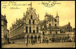 MECHELEN - MALINES - Hallen - Les Halles - Circulé - Circulated - Gelaufen - 1913. - Malines