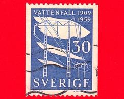 SVEZIA - Usato - 1959 -  50 Anni Della Nazionalizzazione  Energia Elettrica - Water Power Board - 30 - Svezia