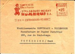 Lettre  EMA  Havas 1961 Numerus Sa 67 Strasbourg C14/52 - 1961-....