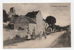 - CPA BRUMETZ (02) - Rue Principale 1917 (avec Personnages) - Edition Bailleux - - France