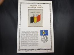"""BELG.1986 2230 FDC Filatelic Card Zijde NL. : """" Bière Belge/ Belgisch Bier """" - 1981-90"""