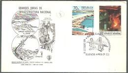 FDC ARGENTINA 1974 - Bruggen