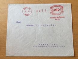 FL3525 Deutsches Reich 1926 Brief Mit Afs Von Berlin Nach Chemnitz - Covers & Documents