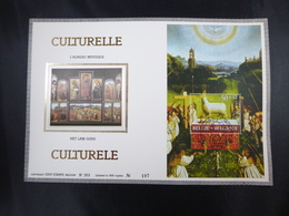 "BELG.1986 2208 (BL62) FDC Zijde/soie (Gent): "" CULTURELLE 86 "" - FDC"