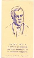 Devotie - Devotion - Saint Pie X - Paus Pius X - Santini