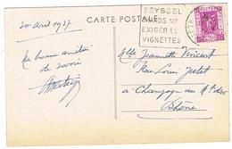 DAGUIN DE SEYSSEL SUR CPA - Storia Postale