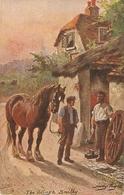 """Harry Payne. The Village Smithy"" Tuck Oikette Village Life Series PC  9452 - Tuck, Raphael"