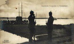 FOTO NACHTLICHE VORPOSTEN IN FEINDESLAND SCHELDE  Guerre 1914   WWI ANTWERPEN ANVERS WWICOLLECTION - Autres