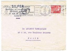 RBV PARIS IX JOURNEE NATIONS UNIES SUR LETTRE - Storia Postale