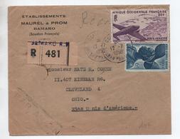 1950 - ENVELOPPE RECOMMANDEE De BAMAKO (SOUDAN FRANCAIS / AOF) Pour OHIO (USA) - A.O.F. (1934-1959)