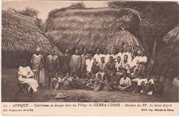 710 VILLAGE DU SIERRA LEONE - SÉANCE DE CATÉCHISME EN IMAGE - MISSION DES PP DU SAINT ESPRIT - Sierra Leone
