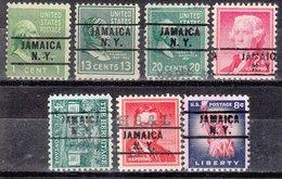 USA Precancel Vorausentwertung Preo, Locals New York, Jamaica 261, 7 Diff. - Préoblitérés