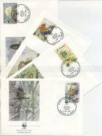 ST VINCENT - FDC 1989 - UCCELLI - PAPPAGALLI - BIRDS - PARROTS -  ANIMALS - WWF - St.Vincent (1979-...)