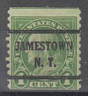USA Precancel Vorausentwertung Preo, Bureau New York, Jamestown 597-43 - Préoblitérés