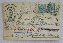 """Cartolina Postale Pubblicitaria """"Amministrazione Della Fattoria Di Cintoia"""" Strada (Chianti) - 02/08/1907 - Marcofilía"""