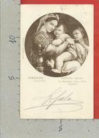CARTOLINA VG ITALIA - FIRENZE - Galleria Pitti - Madonna Detta Della Seggiola - Raffaello Sanzio - 9 X 14 - 1902 - Firenze (Florence)