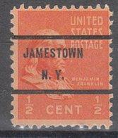 USA Precancel Vorausentwertung Preo, Bureau New York, Jamestown 803-71 - Préoblitérés