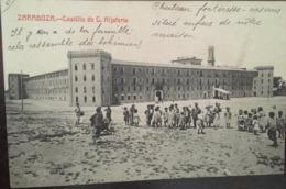 Cpa, ZARAGOZA, Fototipia Castaneira Y Alvarez, Castillo De C. Aljaferia, Animacion, Animée,écrite En 1911, ESPAGNE - Zaragoza