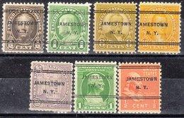 USA Precancel Vorausentwertung Preo, Locals New York, Jamestown 247, 7 Diff. - Préoblitérés