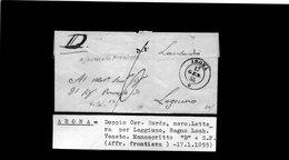 CG28 -Lett. Da Arona X Leggiuno 17/1/1855 - 1. ...-1850 Prephilately