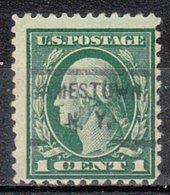 USA Precancel Vorausentwertung Preo, Locals New York, Jamestown 1917-L-1 HS - Préoblitérés