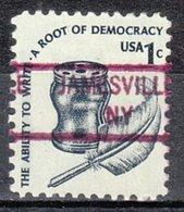 USA Precancel Vorausentwertung Preo, Locals New York, Jamesville 841 - Préoblitérés