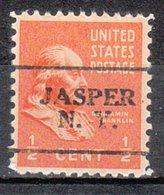 USA Precancel Vorausentwertung Preo, Locals New York, Jasper 701 - Vorausentwertungen