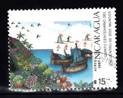 Nicaragua 1987 Mi Nr 2824, Vloot Van Columbus, Ship, Corall - Nicaragua