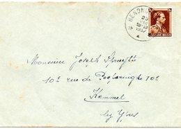 N° 427 Oblitération Dépôt-relais BENONCHAMPS Sur Lettre Vers Kemmel - Postmark Collection