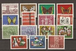 Allemagne Fédérale 1962 - Année Complète MNH - 247/61 - Vrac (max 999 Timbres)