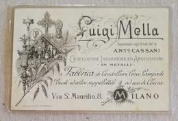 "Cartolina Postale Pubblicitaria ""Luigi Mella"" Cesellatore Milano - Pubblicitari"