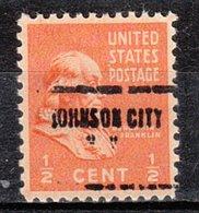USA Precancel Vorausentwertung Preo, Locals New York, Johnson City 704 - Préoblitérés