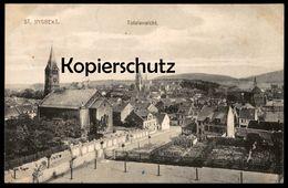ALTE POSTKARTE ST. INGBERT TOTALANSICHT TOTAL GESAMTANSICHT SAAR SAARGEBIET Cpa Postcard AK Ansichtskarte - Saarpfalz-Kreis