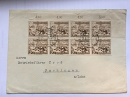 GERMANY 1937 Cover To Fachingen Lahn Tied With X 8 Winter Relief Fund 3+2pf - Germania
