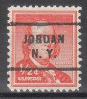 USA Precancel Vorausentwertung Preo, Locals New York, Jordan 712 - Vorausentwertungen