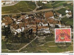 98 - 49 - Carte De Grandvaux Avec Cachet Illustré 1985 - Marcofilia