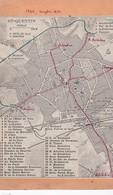 """RARE Document (02) Carte 9x14 . PLAN De ST QUENTIN  """"1926 , Complété 1932""""    Echelle Au 500m - Europe"""
