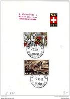 """23-15 - Feuillet Avec Oblit Spéciale """"Maison Genevoise Salon Du Timbre 1941"""" - Postmark Collection"""