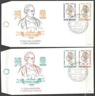 (E115) BELGIQUE - N°1159 à 1162 FDC - Crédit Communal - Gemeentekrediet - Hubert Frère Orban - FDC