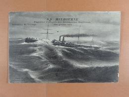 S.S. Melbourne Paquebot Français Des Messageries Maritimes - Steamers